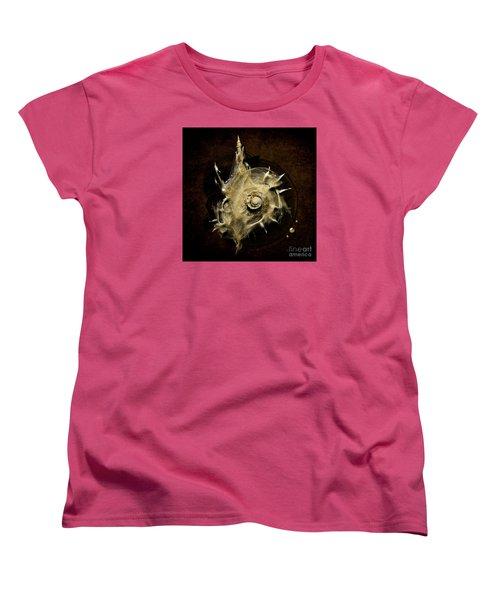 Women's T-Shirt (Standard Cut) featuring the painting Sea Shell by Alexa Szlavics