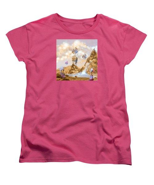 Women's T-Shirt (Standard Cut) featuring the digital art Snail Shell City by Alexa Szlavics