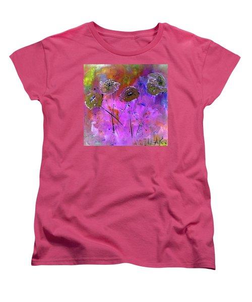 Snow Flowers Women's T-Shirt (Standard Cut) by Lisa Kaiser