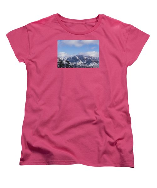 Snow Rim Women's T-Shirt (Standard Cut) by Laura Pratt