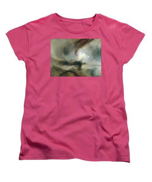 Women's T-Shirt (Standard Cut) featuring the painting Snow Storm by Joseph Mallord William Turner