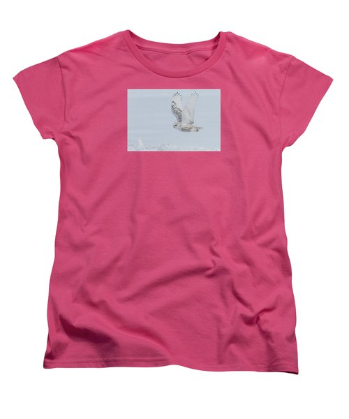 Women's T-Shirt (Standard Cut) featuring the photograph Snowy Owl #3/3 by Patti Deters