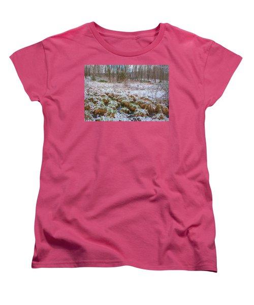 Snowy Wetlands Women's T-Shirt (Standard Cut) by Angelo Marcialis