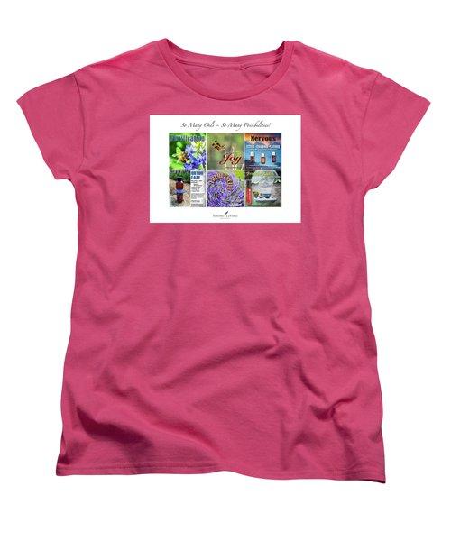 So Many Oils Women's T-Shirt (Standard Cut) by Cheryl McClure