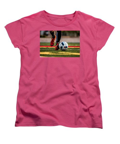 Soccer Women's T-Shirt (Standard Cut) by Hyuntae Kim