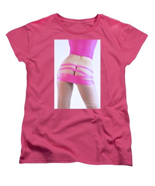 Soft Pink Tape Women's T-Shirt (Standard Cut) by Robert WK Clark