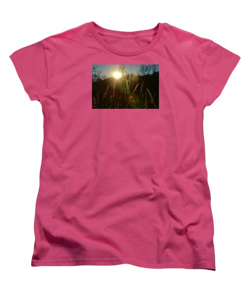 Women's T-Shirt (Standard Cut) featuring the photograph Solar Flares by Nikki McInnes