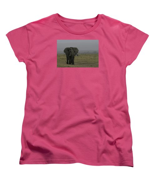 Women's T-Shirt (Standard Cut) featuring the photograph Solitary Bull Elephant by Gary Hall