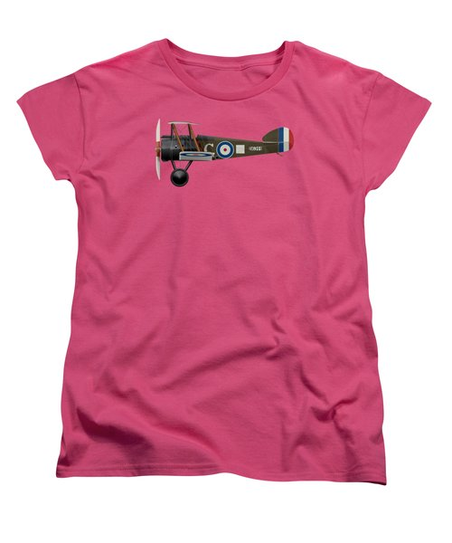Sopwith Camel - B6344 - Side Profile View Women's T-Shirt (Standard Cut) by Ed Jackson