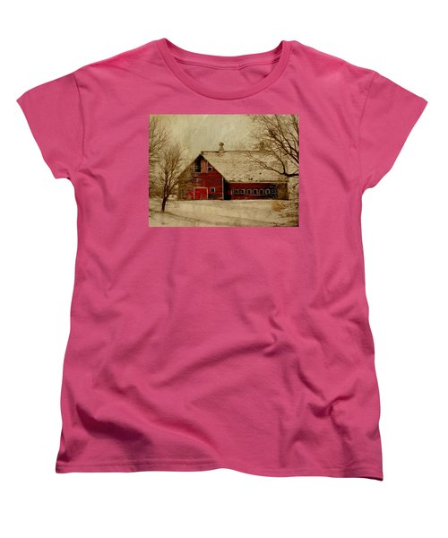 South Dakota Barn Women's T-Shirt (Standard Cut) by Julie Hamilton
