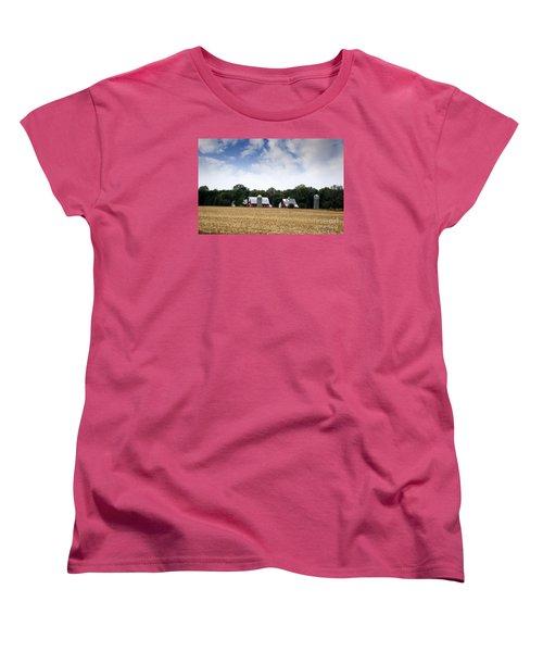 South Dakota Barn Women's T-Shirt (Standard Cut) by Yumi Johnson