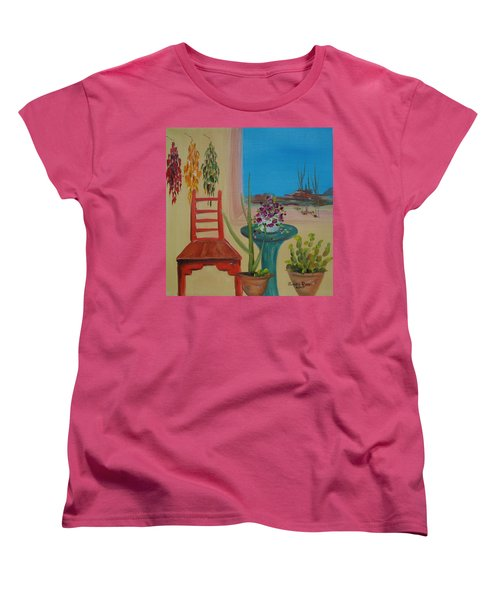 Women's T-Shirt (Standard Cut) featuring the painting Southwestern 6 by Judith Rhue