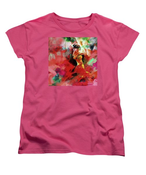 Women's T-Shirt (Standard Cut) featuring the painting Spanish Dance by Gull G