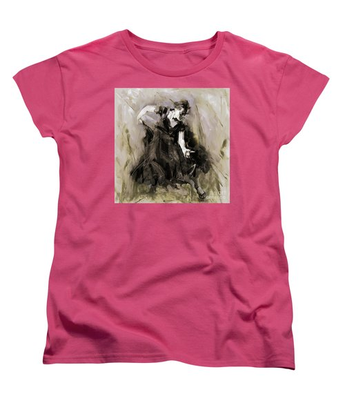 Women's T-Shirt (Standard Cut) featuring the painting Spanish Dancer 3400i by Gull G