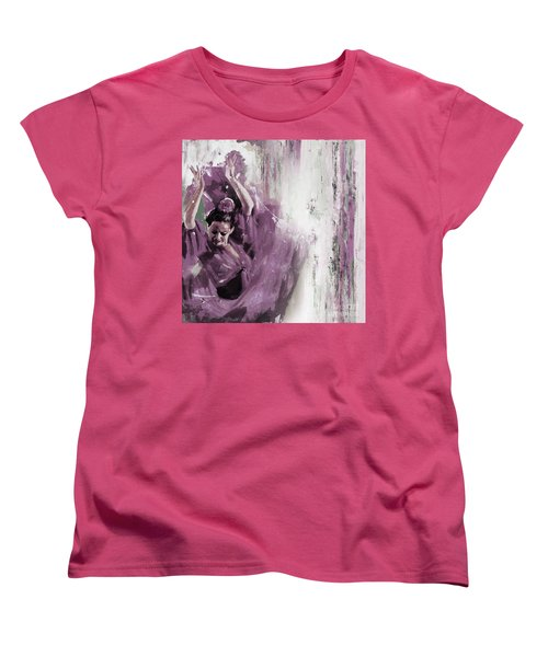 Women's T-Shirt (Standard Cut) featuring the painting Spanish Woman Dance  by Gull G