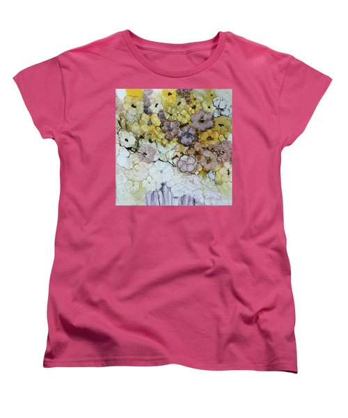 Women's T-Shirt (Standard Cut) featuring the painting Spash Of Sunshine by Joanne Smoley