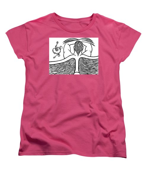 Women's T-Shirt (Standard Cut) featuring the drawing Spirit by Jamie Lynn