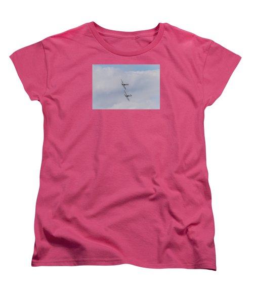 Spitfire Formation Pair Women's T-Shirt (Standard Cut) by Gary Eason