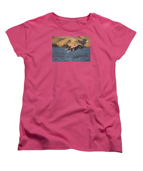 Women's T-Shirt (Standard Cut) featuring the photograph Splash In 3...2...1.... by Brian Cross