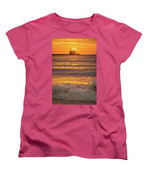 Women's T-Shirt (Standard Cut) featuring the photograph Splash Of Light by Bill Pevlor