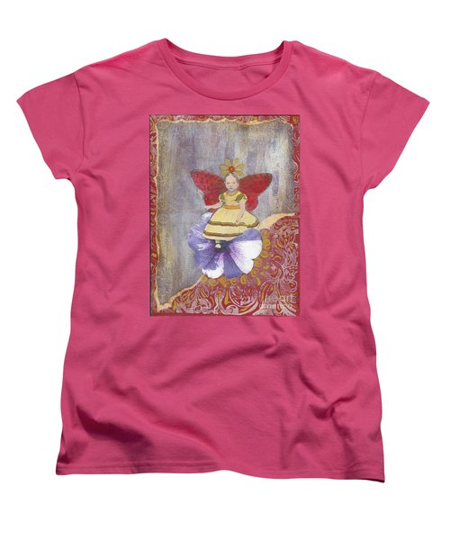 Women's T-Shirt (Standard Cut) featuring the mixed media Spring by Desiree Paquette