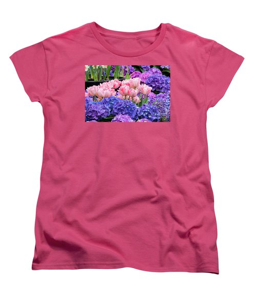 Spring Flowers Women's T-Shirt (Standard Cut) by Darleen Stry