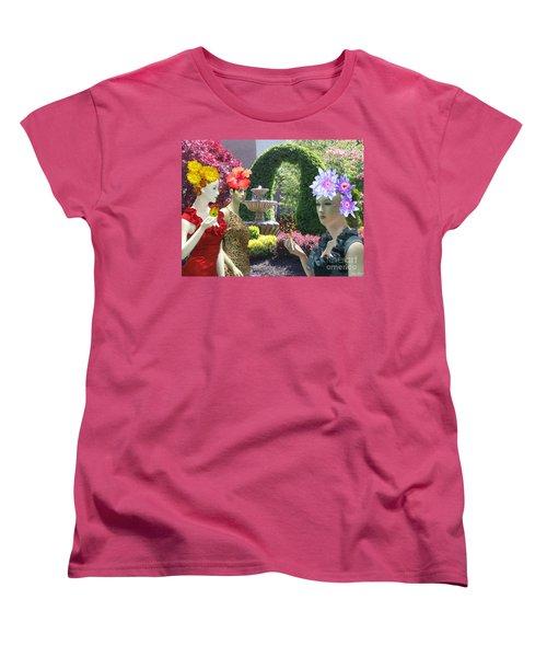 Spring In Bloom Women's T-Shirt (Standard Cut) by Lyric Lucas