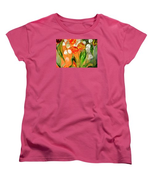 Spring Mood Women's T-Shirt (Standard Cut) by Evelina Popilian