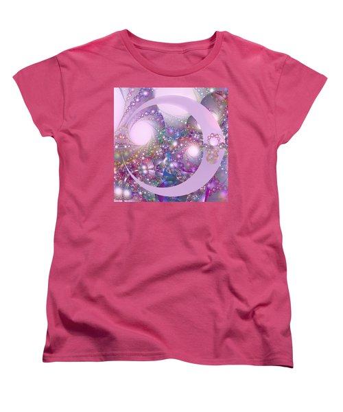 Spring Moon Bubble Fractal Women's T-Shirt (Standard Cut) by Judi Suni Hall