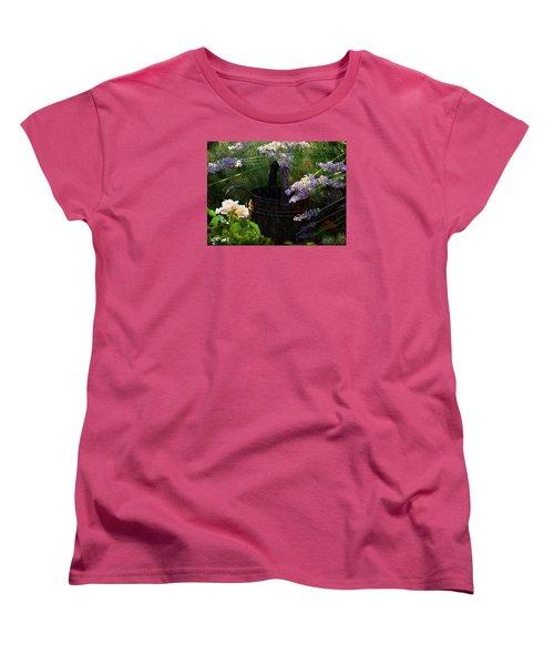 Spring Rain Women's T-Shirt (Standard Cut) by Marika Evanson