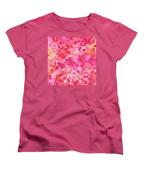 Spring Rose Abstract Women's T-Shirt (Standard Cut) by Patricia Lintner
