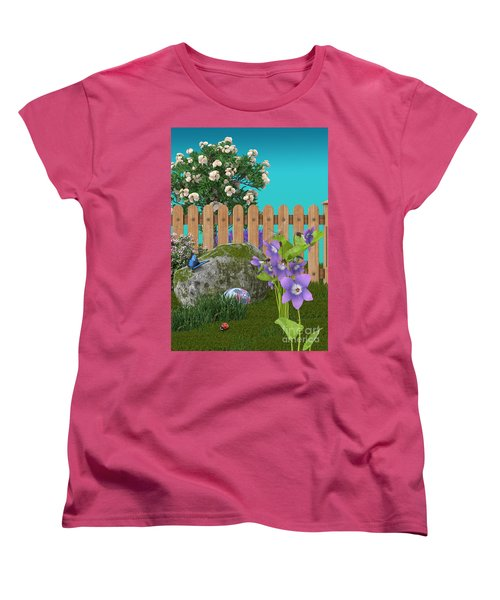 Women's T-Shirt (Standard Cut) featuring the digital art Spring Scene by Mary Machare