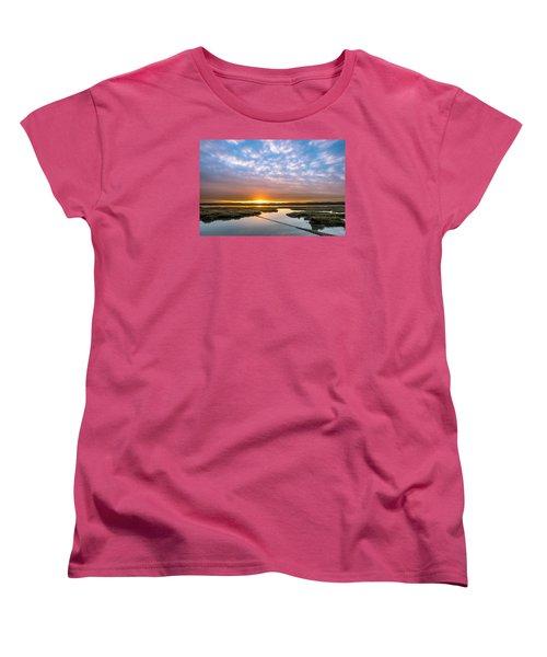 Spring Sunrise On Arcata Bay Women's T-Shirt (Standard Cut) by Greg Nyquist