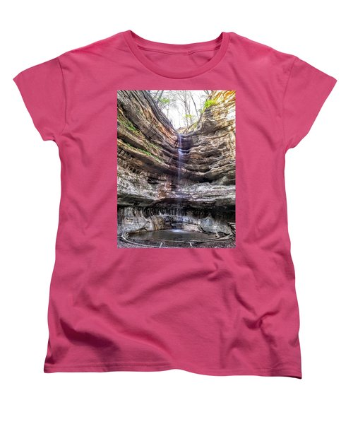 Women's T-Shirt (Standard Cut) featuring the painting Spring Trickling In by Darren Robinson