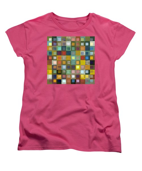 Women's T-Shirt (Standard Cut) featuring the digital art Squares In Squares Five by Michelle Calkins
