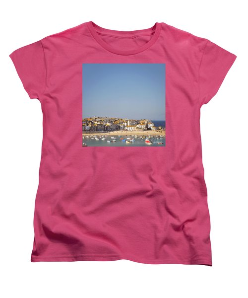 Women's T-Shirt (Standard Cut) featuring the photograph St Ives Harbour by Lyn Randle