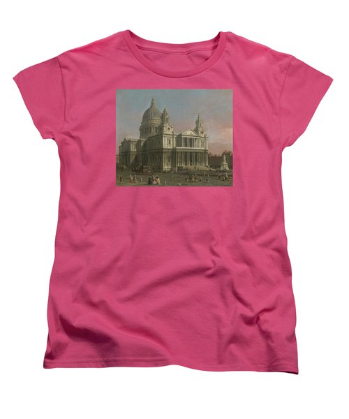 St. Paul's Cathedral Women's T-Shirt (Standard Cut) by Giovanni Antonio Canaletto