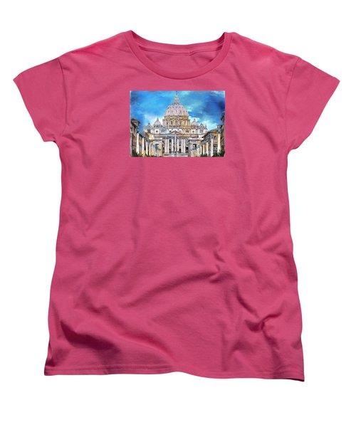 St. Peter's Basilica Women's T-Shirt (Standard Cut) by Andrzej Szczerski