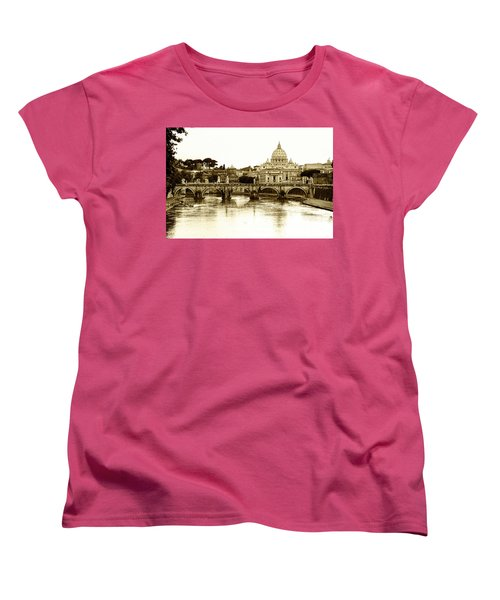 Women's T-Shirt (Standard Cut) featuring the photograph St. Peters Basilica by Mircea Costina Photography