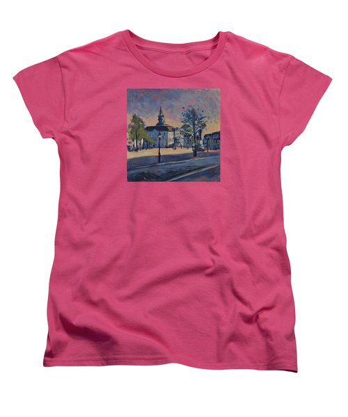 Women's T-Shirt (Standard Cut) featuring the painting Stadhuis Maastricht by Nop Briex