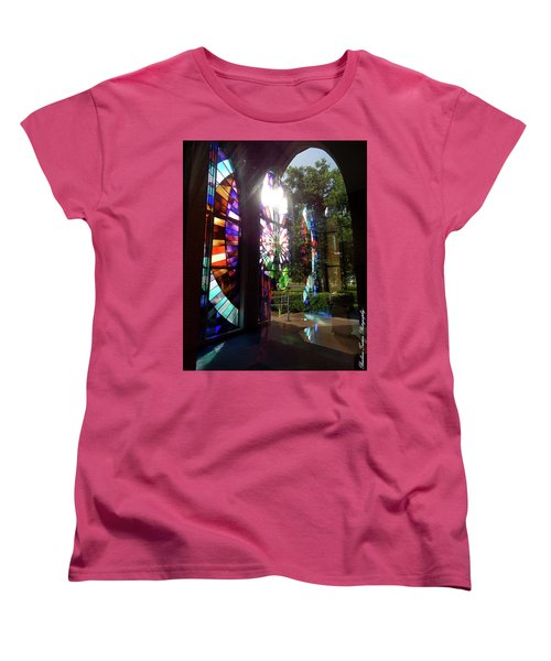 Stained Glass #4720 Women's T-Shirt (Standard Cut) by Barbara Tristan