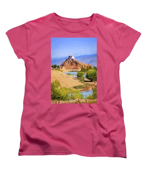 Women's T-Shirt (Standard Cut) featuring the photograph Stakna Monastery by Alexey Stiop