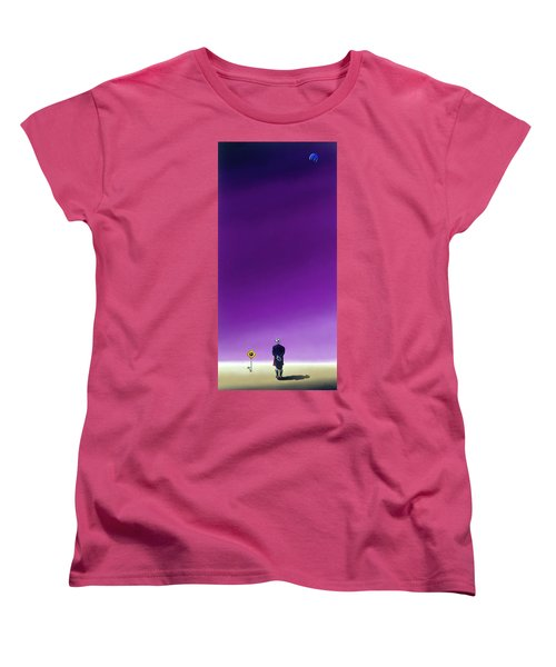 Standing Alone Waiting For The Bowling Balls To Fall When Night Comes Women's T-Shirt (Standard Cut)