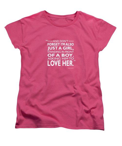 Standing In Front Of A Boy Women's T-Shirt (Standard Cut)