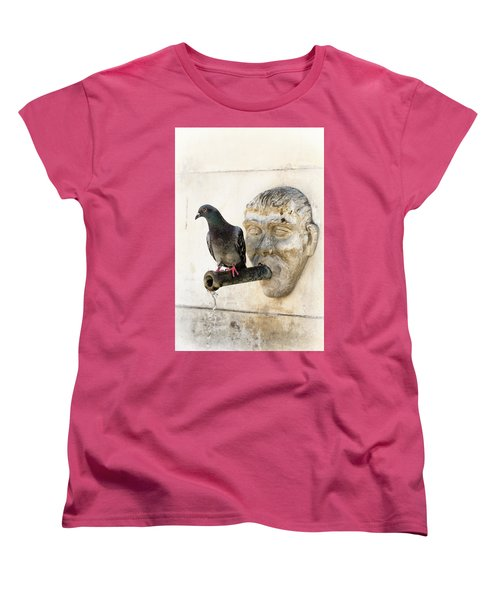 Women's T-Shirt (Standard Cut) featuring the photograph Standing On The Water by Edgar Laureano
