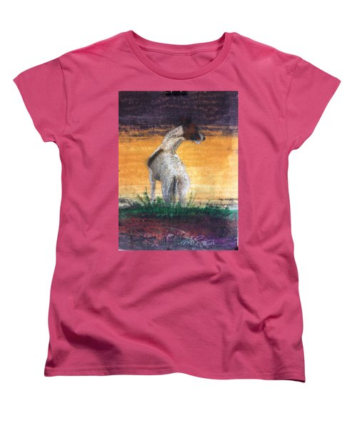 Women's T-Shirt (Standard Cut) featuring the painting Standing Tall by William Renzulli