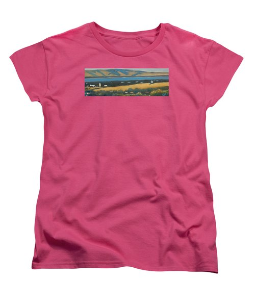 Women's T-Shirt (Standard Cut) featuring the painting Stanford By The Bay by Gary Coleman