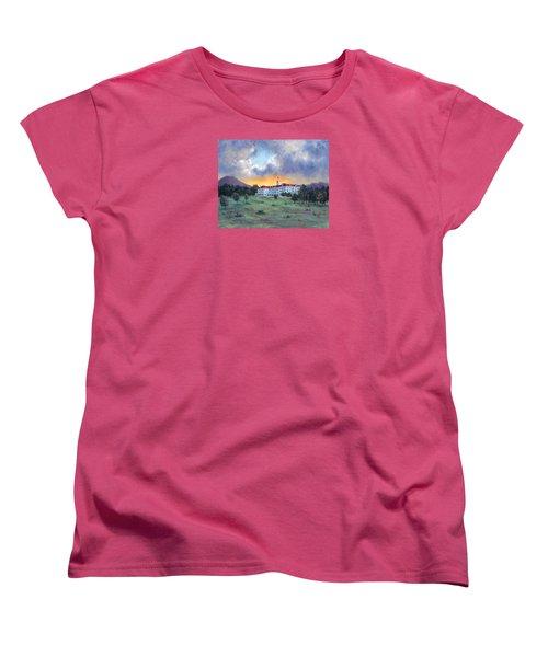 Stanley Hotel Sunset Women's T-Shirt (Standard Cut) by Jill Musser