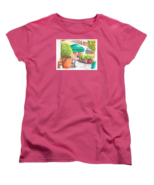 Starbucks Coffee, Sunset Blvd, And Cresent High, West Hollywood, Ca Women's T-Shirt (Standard Cut) by Carlos G Groppa