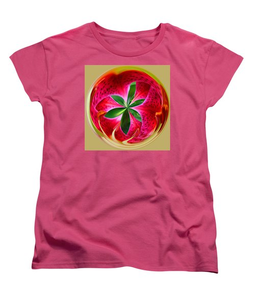 Women's T-Shirt (Standard Cut) featuring the photograph Stargazer Lily Orb by Bill Barber